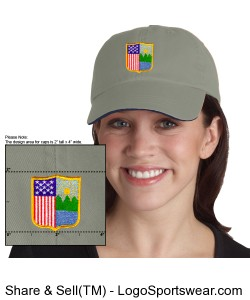 Anvil Solid Pigment-Dyed Twill Sandwich Cap Design Zoom