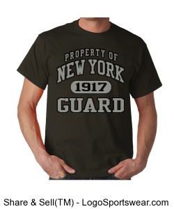 NYG Collegiate Style Tee Grey Design Zoom