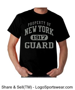 NYG Collegiate Style Tee - Black Design Zoom