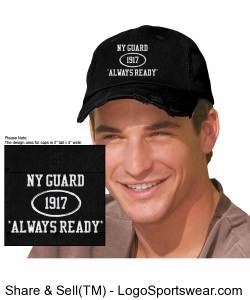 Distressed NYG 'Always Ready' Cap Design Zoom